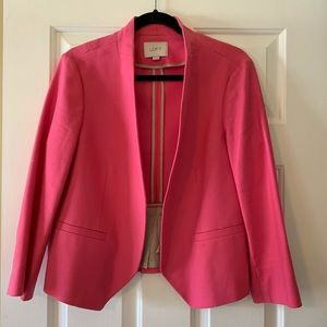 Beautiful Loft pink blazer with back pleats!